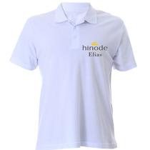 Polo Branca Personalizada Hinode Com Seu Nome