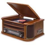 Vitrola Toca-discos Raveo Ópera Bt Bluetooth K7 Cd Fm Usb