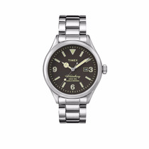 Relógio Timex Style Heritage Pulseira Aço Qz Tw2p75100ww/n