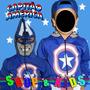 Blusa Casaco Moleton Agasalho Com Mascara - Capitão América