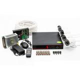 Kit De Monitoramento Segurança Cftv Dvr 4 Canais Câmera Ahd