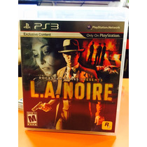 Jogo La Noire Playstation 3 Original Mídia Física