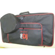 Bag Case Controladora Ddj Sx Pioneer Fone De Ouvido E Note