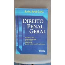 Livro Direito Penal Geral - João José Leal !!! Sebo Refugio