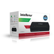 Switch Intelbras 8 Porta Fast Ethernet Poe Passivo Sf 800 Q