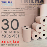 Caixa De Bobina Térmica 80x40 Salmão P/cupom Fiscal Pdv Full