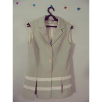Camisa Social Feminina Verde Listrada Forrada Cód. 53