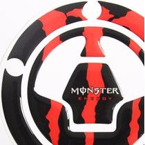 Protetor Relevo Bocal Tanque Moto Kawasaki Z 750 Monster Red