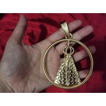 Pingente Grande Gigante Nossa Senhora Aparecida Cor Ouro