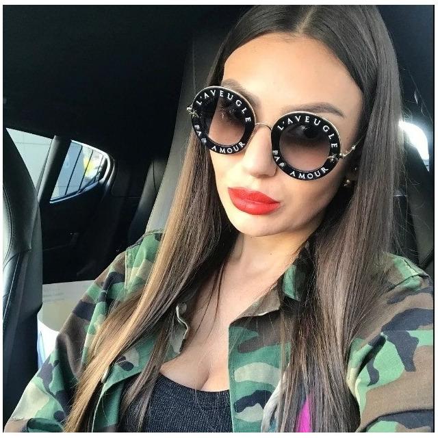 Óculos de Sol Feminino Gucci Gg0385 s Lançam Luxo Quadrado   ventro b1a19fea74