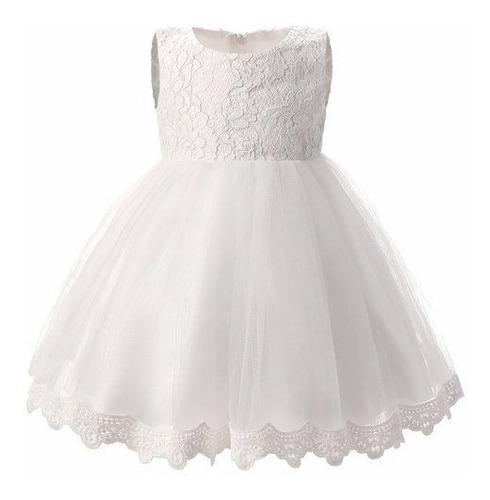Vestido Infantil Branco Batizado Daminha Florista Casamento