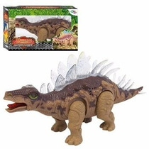 Estegossauro Dinossauro Anda Acende Luz Emite Som