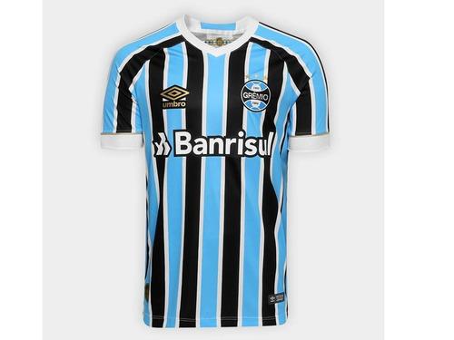 5d1fe86bc8 Camisa Grêmio I 18 19 Nova Azul Preta Umbro Frete Grátis