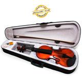 Violino Acústico 4/4 Madeira Arco Breu Cavalete Estojo Luxo