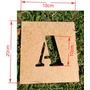Stencil Letra Vazada Mdf 3mm Alfabeto 10cm De Altura