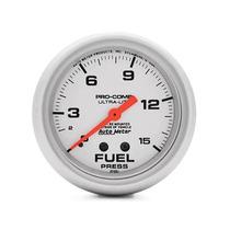 Manômetro Pressão Combustível Ultra-lite (prata) Auto Meter