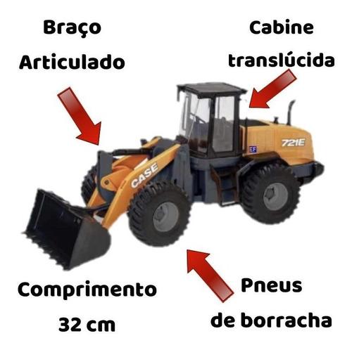 Trator Case 721e Brinquedo Miniatura Réplica Pa Carregadeira