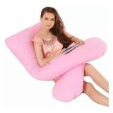 Travesseiro Gestante Gigante Gravida + Fronha  Promoção Rosa