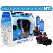 Lâmpada Super Branca Philips Diamond Vision H11 5000k