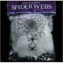 Kit C/ 25 Teia De Aranha Decoração Halloween/homem Aranha