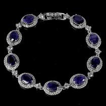 Joalheriavip Bracelete Safiras Naturais Em Prata 925