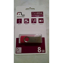 Pen Drive 8 Gb Multilaser Twist Rosa