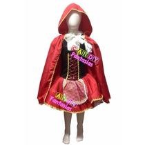 Fantasia De Chapeuzinho Vermelho Luxo Infantil