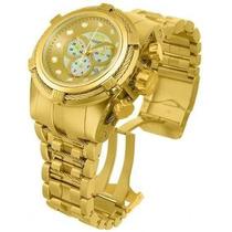 Invicta Bolt Zeus Ouro Gold Pulseira Aço
