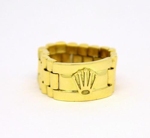 aa2e1ebc3b6 Anel Modelo Rolex Ouro Amarelo 18k 750