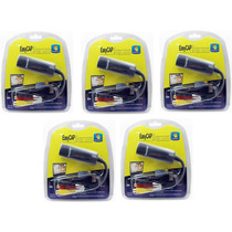 5 X Placa De Captura Video Usb Easycap Audio/video Notebook