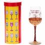 Taça De Vidro Vinho - Que Seja Eterno O Nosso Amor (440 Ml)