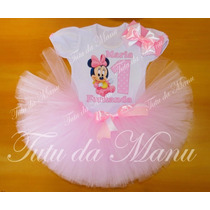 Fantasia Tutu Infantil Personalizada Minnie Baby