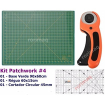 Kit Base De Corte + Régua + Cortador Patchwork Scrapbook #4