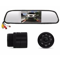 Espelho Retrovisor Interno Monitor + Câmera De Ré Tft Lcd