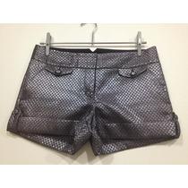 Shorts Metalizado Prata Da Marca Americana Express