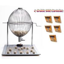 Jogo Bingo Globo Cromado Nº3 +500 Cartelas Grátis
