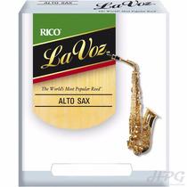 Palhetas Rico La Voz P/ Sax Alto Medium Soft (caixa C/ 10)