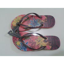 Havaianas Slim Tropical Chinelo Com Logotipo Em Metal