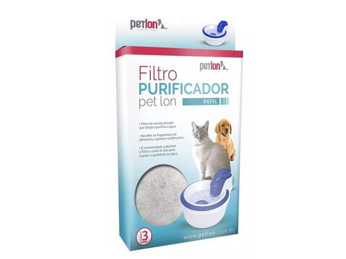 Filtro Purificador Refil Para Bebedouro Petlon