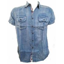 Camisa Jeans Masculina Manga Curta Varios Modelos