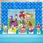 Festa Aniversário Os Flintstones Decoração Cenário Kit Ouro