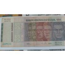 Cedula Racas Brasileiras 500 Cruzeiros C151