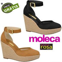 a38743552 Feminino Sandálias Moleca com os melhores preços do Brasil ...