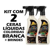 Kit 2 Cera Líquida Colorida Branca Autoshine Limpa E Encera