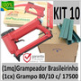 Grampeador Pacar (1maq) Brasileirinho+(1cx) 80/10 C/17500