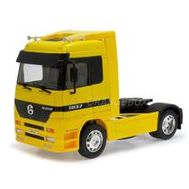 Caminhão Mercedes Benz Actros 1:32 Welly 32280-amarelo