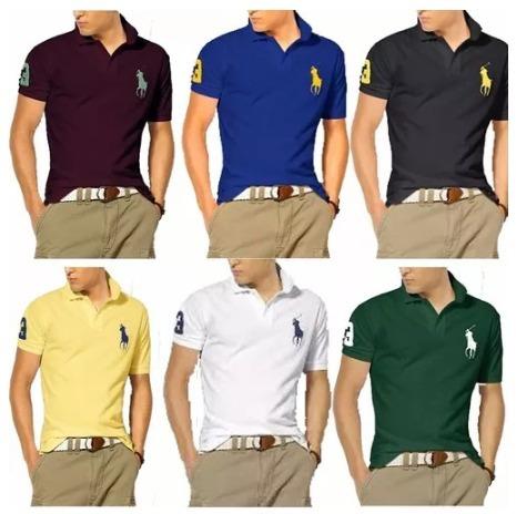 de2cd2ab8989c Kit 05 Camisas Camisetas Revenda Gola Polo Masculina Atacado