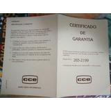 Certificado De Garantia Cce Original Top Game E Turbo Game