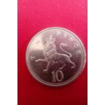 Moeda Inglesa De 10 Pence 1995 Elizabeth Ii