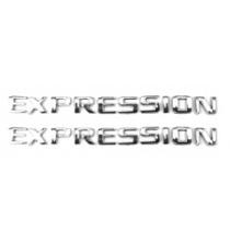 Kit 2 Emblemas Expression Astra Vectra Etc Chevrolet + Brind